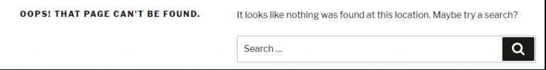 Layar error WordPress