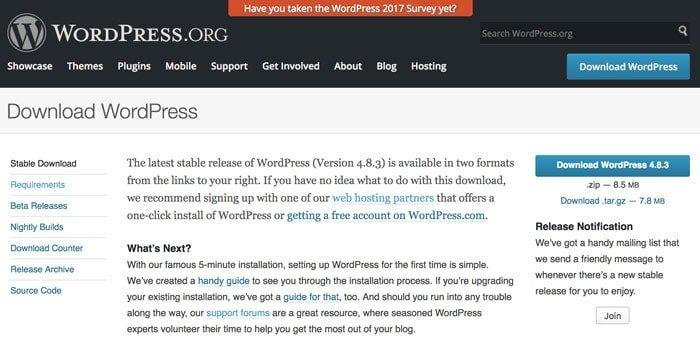 Unduh halaman WordPress
