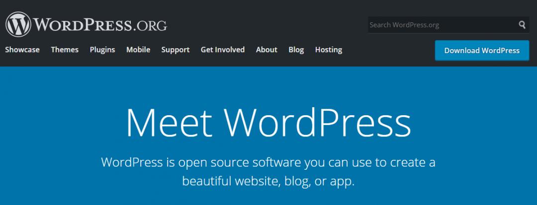 Cara install WodPress - beranda utama WordPress