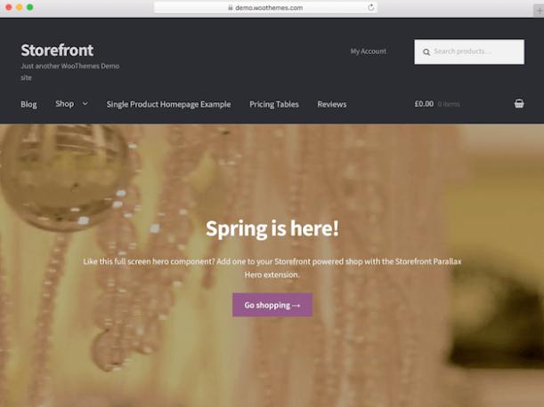 Salah satu tema WordPress terbaik, Storefront