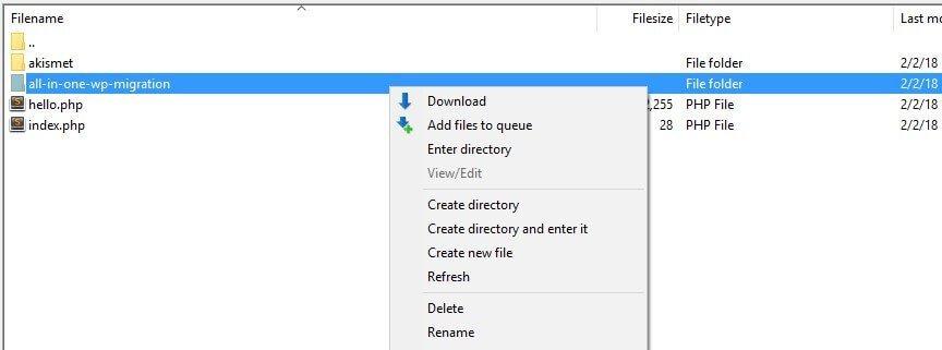Ubah nama folder