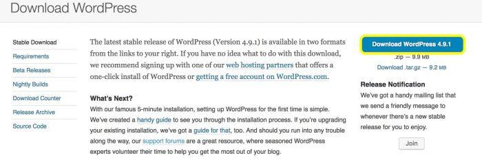 Unduh versi terbaru WordPress